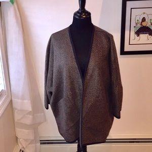 Madewell herringbone  cape jacket XS/S LIKE NEW